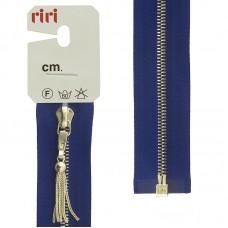 Молния металл, Gold, слайдер Zuff, 4 мм, разъёмная, 1 замок, 60 см, цвет 2610, синий