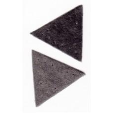 Заплатка Треугольник искусственная замша, цвет серый