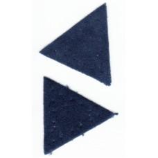 Заплатка Треугольник искусственная замша, цвет синий