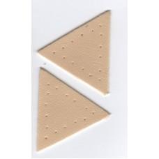 Заплатка Треугольник искусственная кожа с перфорацией, цвет бежевый