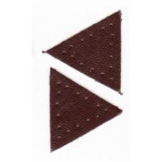 Заплатка Треугольник искусственная кожа с перфорацией, цвет коричневый