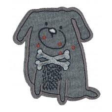 Термоаппликация Собака с люрексом