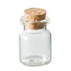 Бутылка декоративная стеклянная с пробковой крышкой