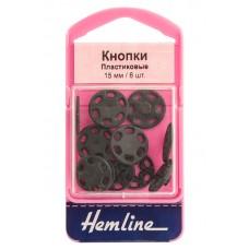 Кнопки пришивные черные из пластика