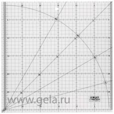 Линейка для квилтинга, градация в сантиметрах, квадрат 30 х 30 см