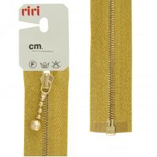 Молния металл, Gold, слайдер Kuke,на люрексной тесьме, 4 мм,разъёмн 1 замок,60 см, тесьма золотистая