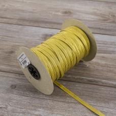 Тесьма эластичная PEGA продежка люрекс, цвет золотой, 6,5 мм