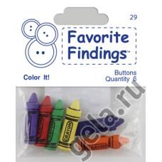 Пуговицы Favorite Findings Цветные Маркеры