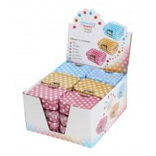 Булавки с пластиковыми круглыми головками в жестяных коробочках, картонный дисплей