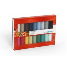 Набор с нитками Seralon в подарочной упаковке,18 катушек