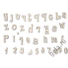 Заготовка для декупажа, алфавит и цифры