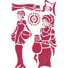 Трафарет Этнические фигуры
