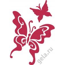 Трафарет, 3D Бабочки