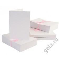 Набор заготовок для открыток с конвертами формат А6 100 шт