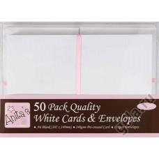 Набор заготовок для открыток с конвертами формат А6 50 шт.