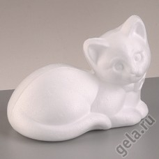 Форма из пенопласта Котёнок лежащий, 9,5 х 13,5 см