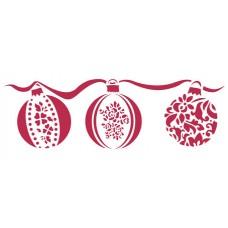 Трафарет Рождественские шары