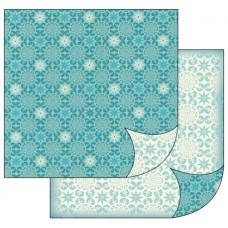 Бумага двухсторонняя для скрапбукинга Снежинки, лист