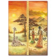 Войлочное полотно с напечатанным рисунком Африка