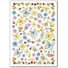 Войлочное полотно с напечатанным рисунком Бабочки