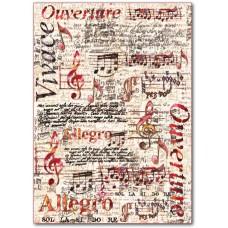Войлочное полотно с напечатанным рисунком Ноты