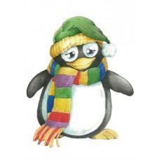 Войлочное полотно с напечатанным рисунком (подложка) Пингвин
