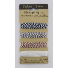 Шнур Bakers Twine  на блистере, 2 х 2 нити, 1мм, 4 цвета по 9 м