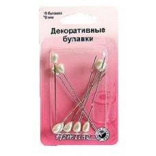 Булавки декоративные с жемчужными головками