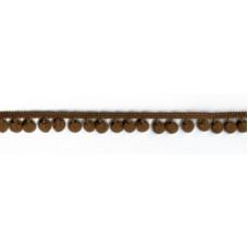 Тесьма с помпонами, диаметр 10 мм, 1 метр