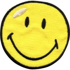 Термоаппликация HKM Смайлик 70 мм, желтый