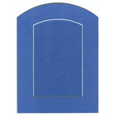 Декоративное паспарту, бирюзовый, арка
