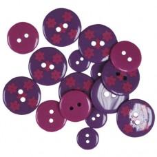 Пуговицы Favorite Findings Фиолетовые цветы