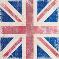 Бумага для скрапбукинга Винтаж-Флаг (160gsm) Portobello Road
