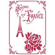Трафарет Voyage en France