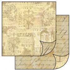 Бумага двухсторонняя для скрапбукинга Экслибрис, лист