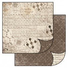 Бумага двухсторонняя для скрапбукинга Химические таблички, лист