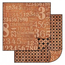 Бумага двухсторонняя для скрапбукинга Цифры, лист