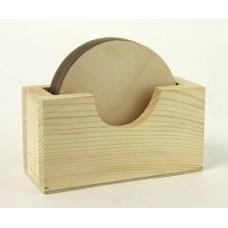 Набор деревянных подставок под горячее
