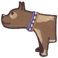 Термоаппликация Половинка Собаки, 5 штук на блистере