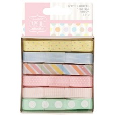 Набор лент Spots & Stripes Pastels