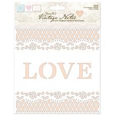 Набор заготовок для открыток с конвертами Vintage Notes