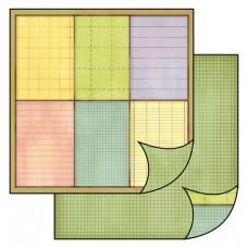 Бумага двухсторонняя для скрапбукинга Цветные заметки, лист