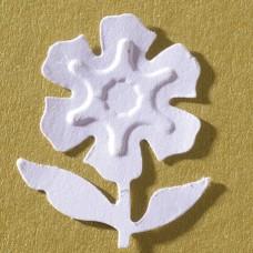 Дырокол с эмбоссингом Цветок на ножке
