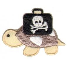 Термоаппликация HKM Черепаха с пиратким чемоданом, 1 шт