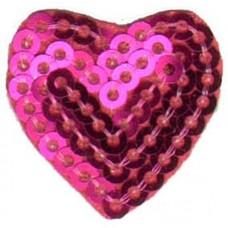Термоаппликация HKM Набор сердечек с паетками, 1 шт