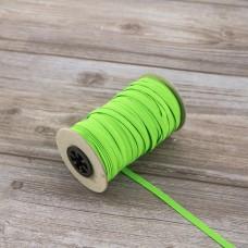 Тесьма эластичная PEGA продежка неоновая, цвет зеленый, 6,6 мм