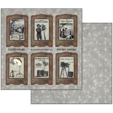 Бумага двухсторонняя для скрапбукинга Фотография, лист