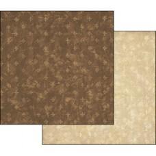 Бумага двухсторонняя для скрапбукинга Текстура - Коричневый и Слоновая кость, лист