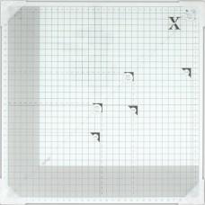Мат для скрапбукинга, стеклянный, 33 х 33 см