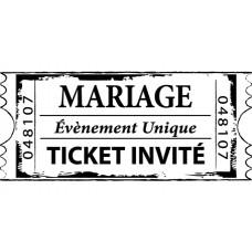 Деревянный штампик для оттисков Билет для новобрачных